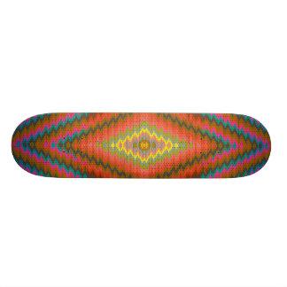 Design geométrico legal do asteca shape de skate 21,6cm