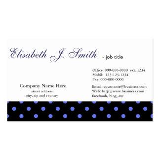 Design gráfico das bolinhas azuis elegantes, legal cartão de visita