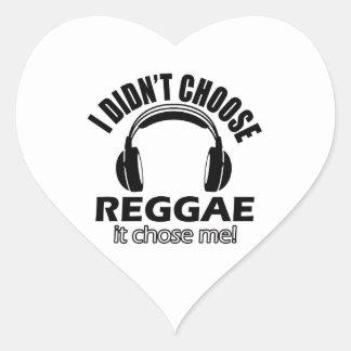 Design legal da reggae adesivo coração