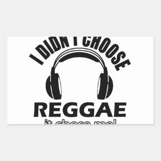 Design legal da reggae adesivos em formato retangulares