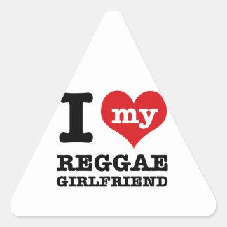 Design legal da reggae adesivo em forma de triângulo