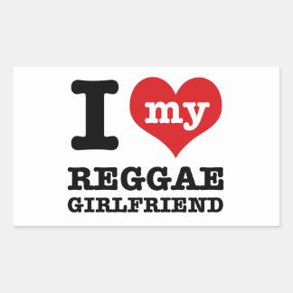 Design legal da reggae adesivos retangular