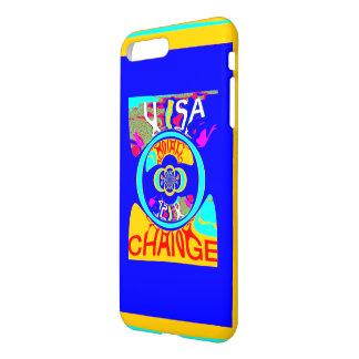 Design lustroso da arte do fundo da mudança capa iPhone 7 plus