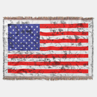 Design metálico 2 da bandeira americana manta