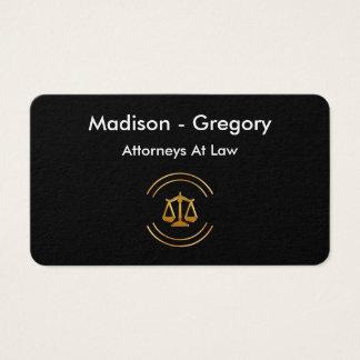 Design mínimo moderno do advogado cartão de visitas