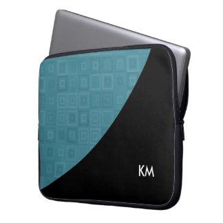 Design moderno do monograma bolsa e capa para computadore