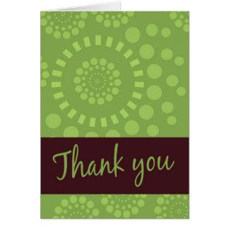 Design moderno dos cartões de agradecimentos de Br