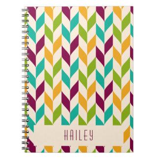 Design óptico das folhas caderno espiral