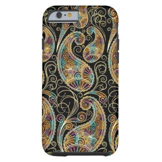Design ornamentado de Paisley do vintage colorido Capa Para iPhone 6 Tough