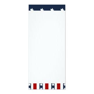 """Design patriótico da bandeira americana da convite 10.16"""" x 23.49cm"""