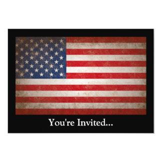 Design patriótico da bandeira americana do estilo convite 12.7 x 17.78cm