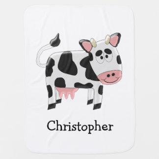 Design personalizado da vaca manta para bebe