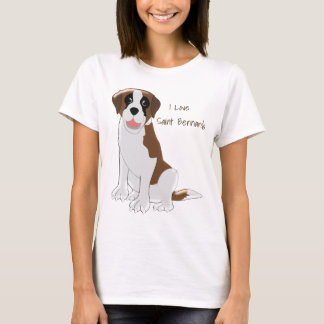 Design personalizado de St Bernard Tshirts