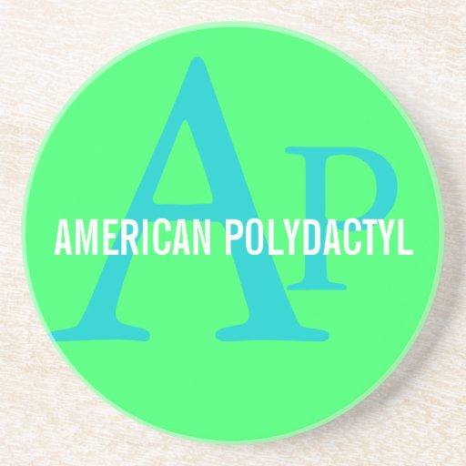 Design Polydactyl americano do monograma Porta Copos
