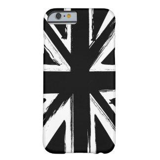 Design preto abstrato retro do jaque de união capa barely there para iPhone 6