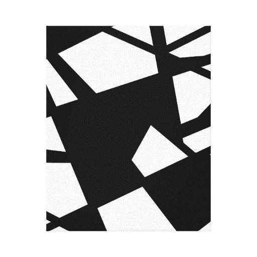 Design preto e branco do vetor impressão de canvas envolvida