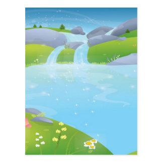 Design puro da fonte da água cartão postal