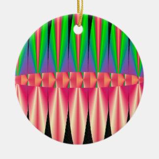 Design que colorido você pode personalizar ornamento de cerâmica redondo