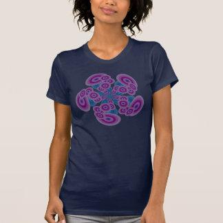 Design retro roxo azul Funky dos círculos T-shirts
