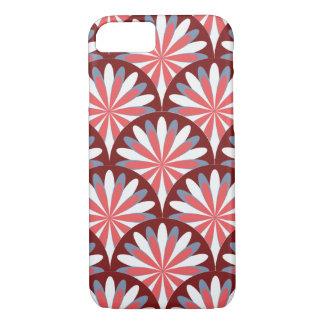 Design retro vermelho da flor capa iPhone 7
