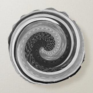 design reversível feito malha preto e branco do almofada redonda