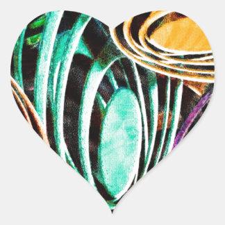 Design rico real brilhante contínuo Patt da arte Adesivo De Coração