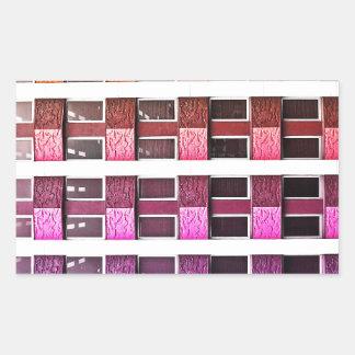 Design rico real brilhante contínuo Patt da arte Adesivos Em Forma Retangular