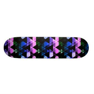 Design roxo, verde & azul do triângulo shape de skate 20,6cm