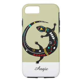 Design tribal personalizado do lagarto do sudoeste capa iPhone 7