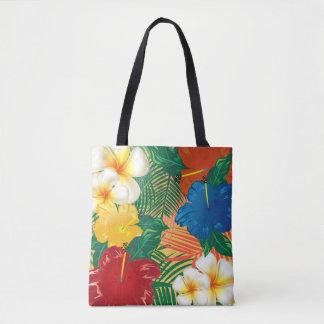 Design tropical exótico da flor bolsas tote