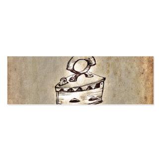 Design velho do ferro do vintage retro modelo cartao de visita