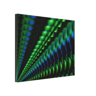 Design verde abstrato do preto azul impressão em tela