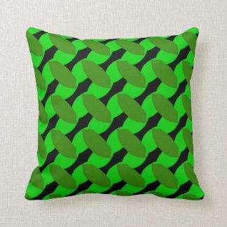 Design verde frondoso no travesseiro decorativo almofada