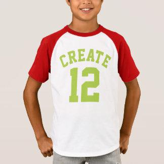 Design vermelho do jérsei dos esportes dos miúdos camisetas