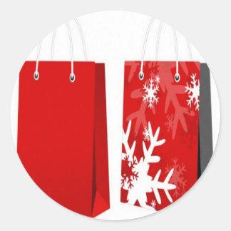 Design vermelho do saco do Natal Adesivo