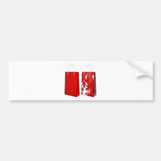 Design vermelho do saco do Natal Adesivo Para Carro