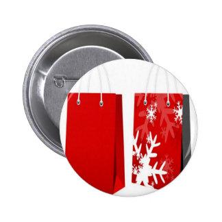 Design vermelho do saco do Natal Botons