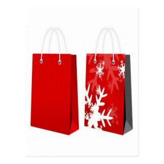 Design vermelho do saco do Natal Cartão Postal