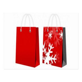 Design vermelho do saco do Natal Cartao Postal