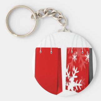 Design vermelho do saco do Natal Chaveiro