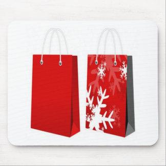 Design vermelho do saco do Natal Mousepad