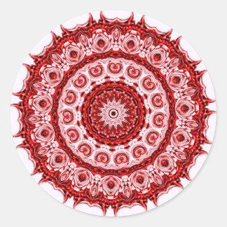 Design vermelho e branco de Morrocco do azulejo Adesivo