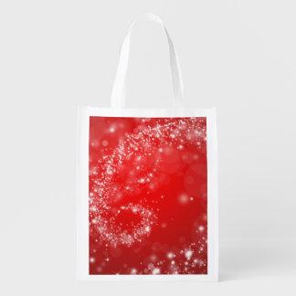 Design vermelho no saco reusável sacolas ecológicas