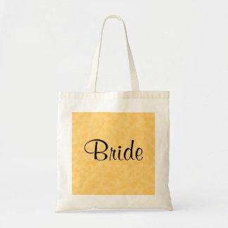 Design Wedding no amarelo e no preto Bolsa Tote