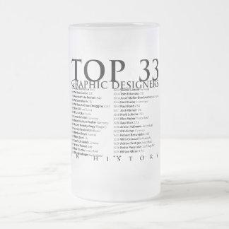 Designer gráficos da parte superior 33 em caneca de cerveja vidro jateado