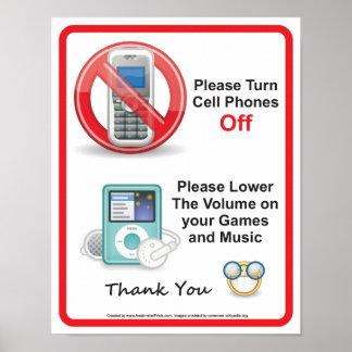 Desligue por favor o sinal do escritório dos telem pôsteres