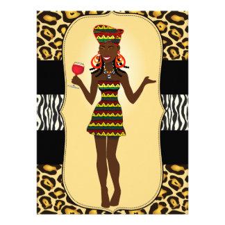 Despedida de solteiro africano de BridalShower do Convites