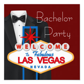 Despedida de solteiro de Las Vegas Convite Quadrado 13.35 X 13.35cm