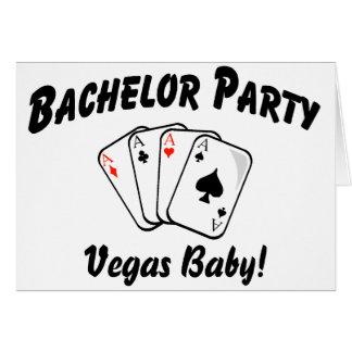 Despedida de solteiro de Vegas Cartão Comemorativo