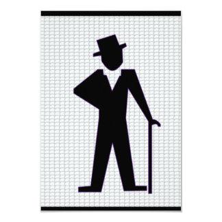 Despedida de solteiro do homem da dança convite 8.89 x 12.7cm